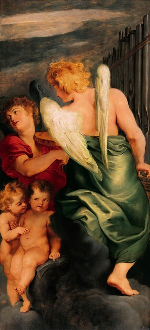 Reproduction oil paintings - Rubens - Four angels playing musical instruments