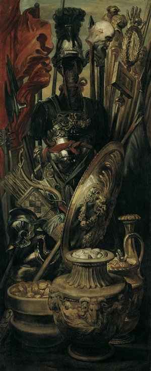 Reproduction oil paintings - Rubens - Weapons, trophy 1616-1617