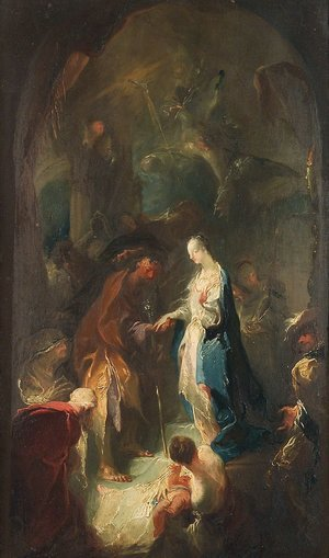 Rococo painting reproductions: The Marriage of the Virgin, 1755
