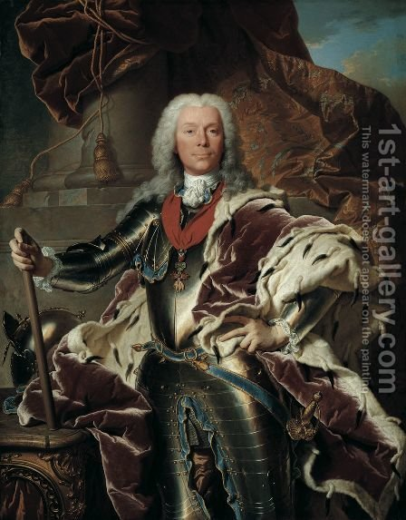 Portrait of Prince Joseph Wenzel I von Liechtenstein (1696-1772), 1740 by Hyacinthe Rigaud - Reproduction Oil Painting