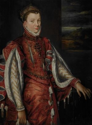 Mannerism painting reproductions: Portrait of Elisabeth of Valois (1545-1568), wife of King Philip II. Of Spain, 1560