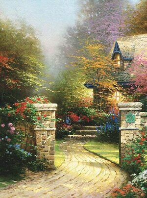 Realism painting reproductions: Rose Gate