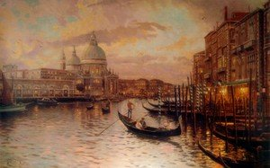 Realism painting reproductions: Venice