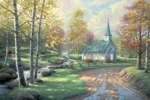 Realism painting reproductions: The Aspen Chapel