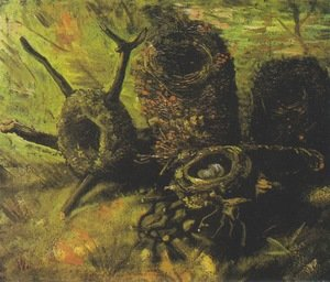 Reproduction oil paintings - Vincent Van Gogh - Still Life with Birds' Nests V