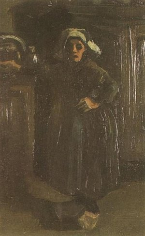Reproduction oil paintings - Vincent Van Gogh - Peasant Woman Standing Indoors