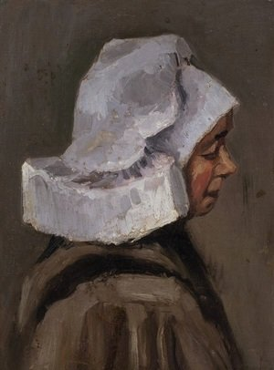 Reproduction oil paintings - Vincent Van Gogh - Head of a Peasant Woman with White Cap