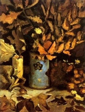 Reproduction oil paintings - Vincent Van Gogh - Vase with Dead Leaves