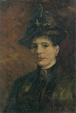 Reproduction oil paintings - Vincent Van Gogh - Portrait of a Woman with Hat