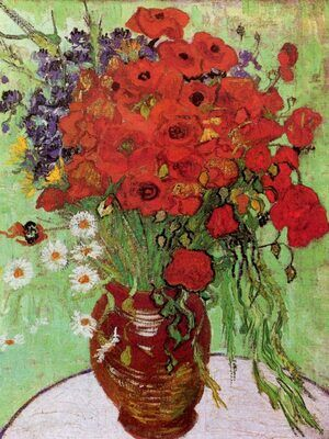 Reproduction oil paintings - Vincent Van Gogh - Still Life: Red Poppies and Daisies