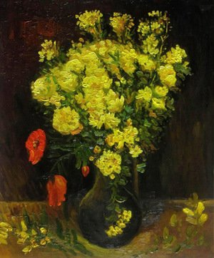 Reproduction oil paintings - Vincent Van Gogh - Vase with Viscaria