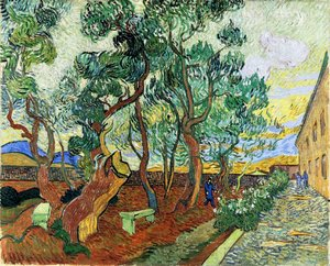Reproduction oil paintings - Vincent Van Gogh - Garden of Saint-Paul Hospital