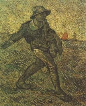 Reproduction oil paintings - Vincent Van Gogh - The Sower (after Millet)