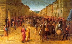 Francesco Granacci reproductions - Entry of Charles VIII into Florence 1518