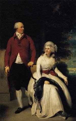 Famous paintings of Couples: Mr and Mrs John Julius Angerstein  1792