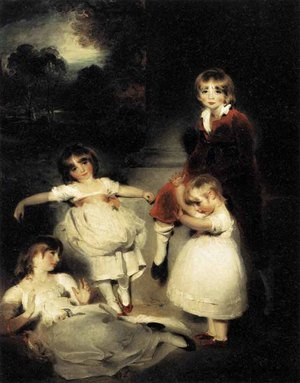 Reproduction oil paintings - Sir Thomas Lawrence - Portrait of the Children of John Angerstein  1808