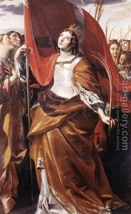 St Ursula and the Virgins  1622 by Giovanni Lanfranco - Reproduction Oil Painting