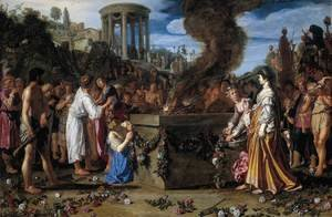 Pieter Pietersz. Lastman reproductions - Orestes and Pylades Disputing at the Altar 1614