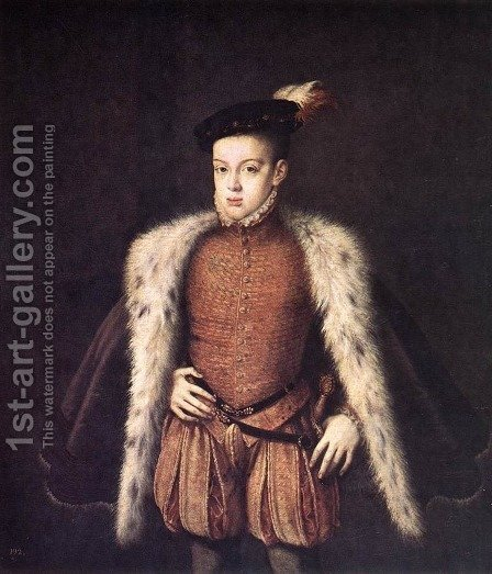 Prince Don Carlos of Austria by Alonso Sanchez Coello - Reproduction Oil Painting