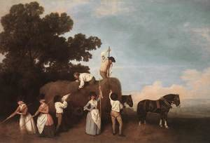 Famous paintings of Horses & Horse Riding: Haymaking  1785