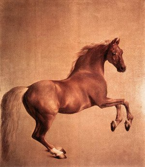 Romanticism painting reproductions: Whistlejacket  1761-62