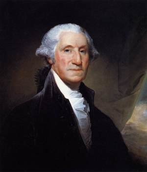 Famous paintings of Men: George Washington 1795
