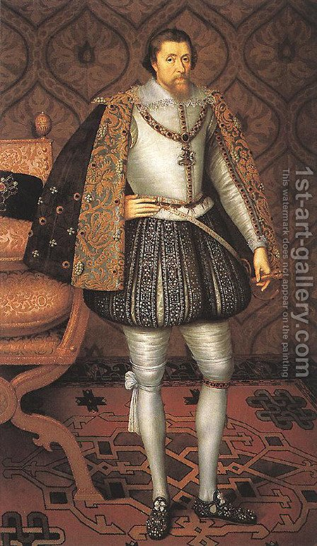 King James I of England by Paulus Van Somer - Reproduction Oil Painting