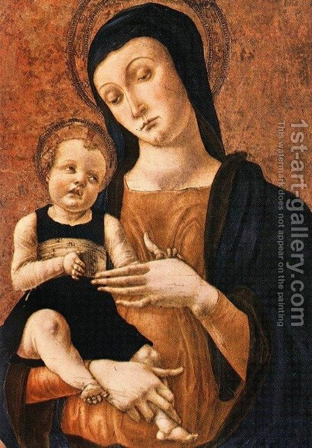 Mary And Child by Alvise Vivarini - Reproduction Oil Painting