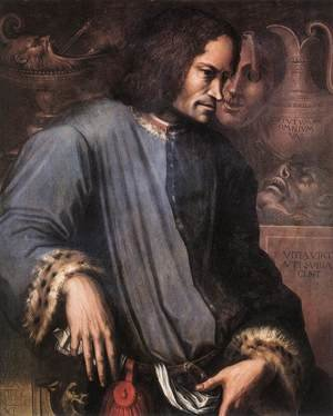 Mannerism painting reproductions: Portrait of Lorenzo the Magnificent