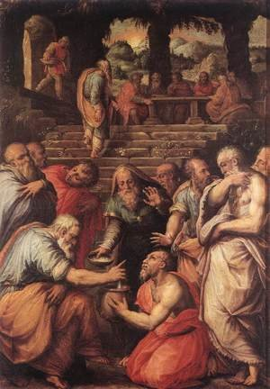 Reproduction oil paintings - Giorgio Vasari - The Prophet Elisha c. 1566
