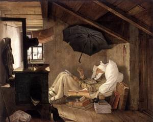 Famous paintings of Furniture: The Poor Poet 1835