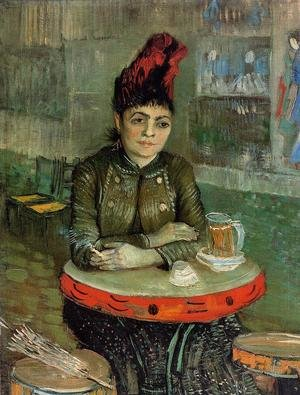 Famous paintings of Portraits: Agostina Segatori Sitting In The Cafe Du Tambourin