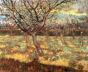 Reproduction oil paintings - Vincent Van Gogh - Apricot Trees In Blossom II