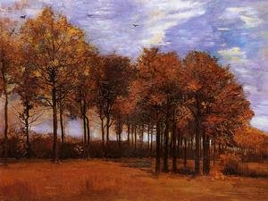 Famous paintings of Clouds & Skyscapes: Autumn Landscape
