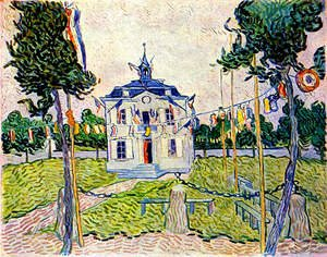 Reproduction oil paintings - Vincent Van Gogh - Auvers Town Hall On July 14 1890