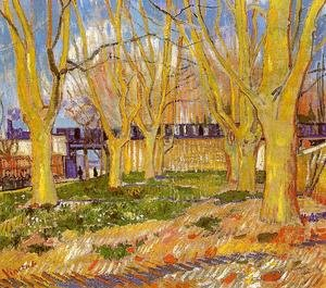 Famous paintings of Tea: Avenue Of Plane Trees Near Arles Station
