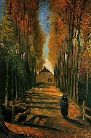 Reproduction oil paintings - Vincent Van Gogh - Avenue Of Poplars In Autumn