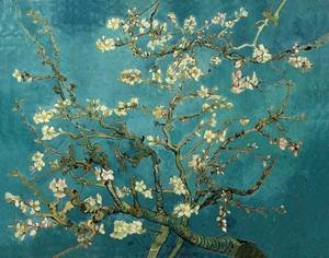 Famous paintings of Trees: Blossoming Almond Tree