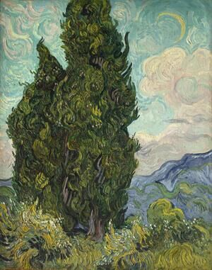 Famous paintings of Clouds & Skyscapes: Cypresses