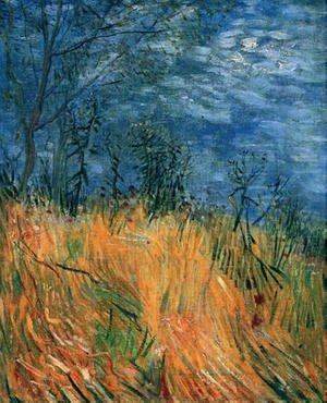 Famous paintings of Trees: Edge Of A Wheatfield With Poppies