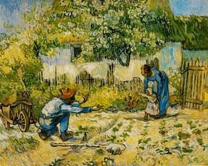 Famous paintings of Transportation: First Steps (after Millet)