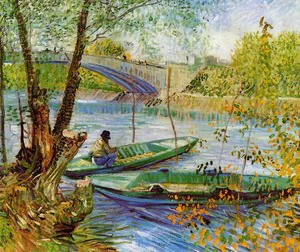 Famous paintings of Trees: Fishing In Spring