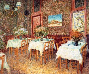 Famous paintings of Furniture: Interior Of A Restaurant