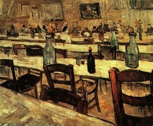 Famous paintings of Taverns: Interior Of A Restaurant In Arles