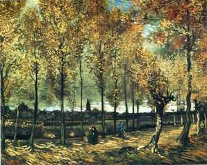 Famous paintings of Trees: Lane With Poplars