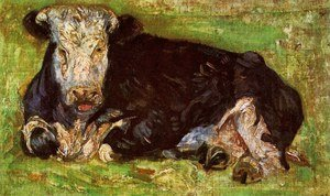 Famous paintings of Domestic Animals: Lying Cow