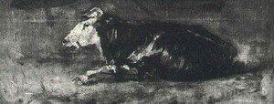 Reproduction oil paintings - Vincent Van Gogh - Lying Cow II