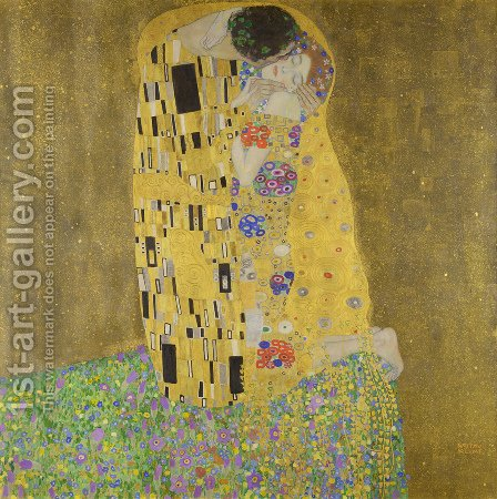 Gustav Klimt: The Kiss - reproduction oil painting
