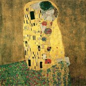 Oil painting reproductions - Art Nouveau - Gustav Klimt: The Kiss