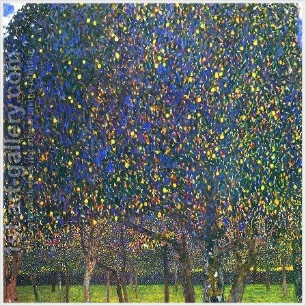 Gustav Klimt: The Pear Tree - reproduction oil painting